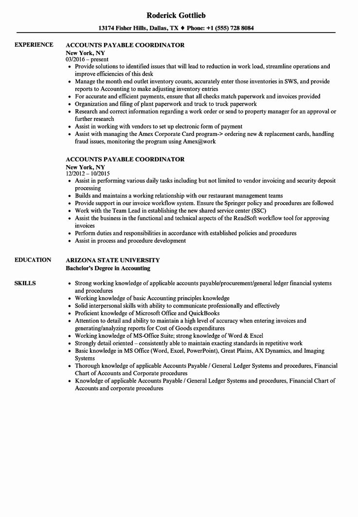 Account Payable Job Description Resume Best Of Accounts