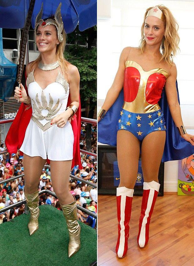 Carolina Dieckmann de She-Ra e  Mulher Maravilha #carnaval #fantasia