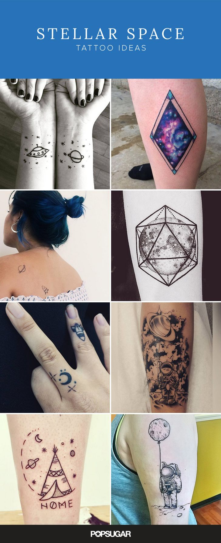 Out of this world space tattoo inspiration.
