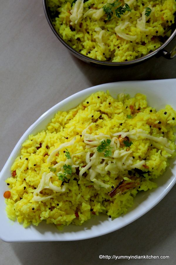 Mango Rice, a delicious tangy flavored rice made using steamed rice and raw green mangoes and added to it is aromatic tempering