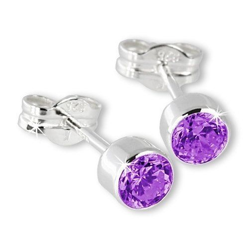 SilberDream Ohrringe Zirkonia lila 925 Sterling Silber Ohrstecker SDO503V | Your #1 Source for Jewelry and Accessories