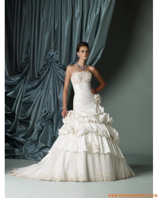 Robe de mariée bustier taffetas tulle