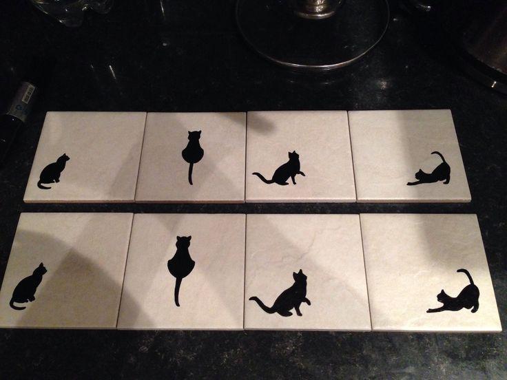 Black Cat Coasters