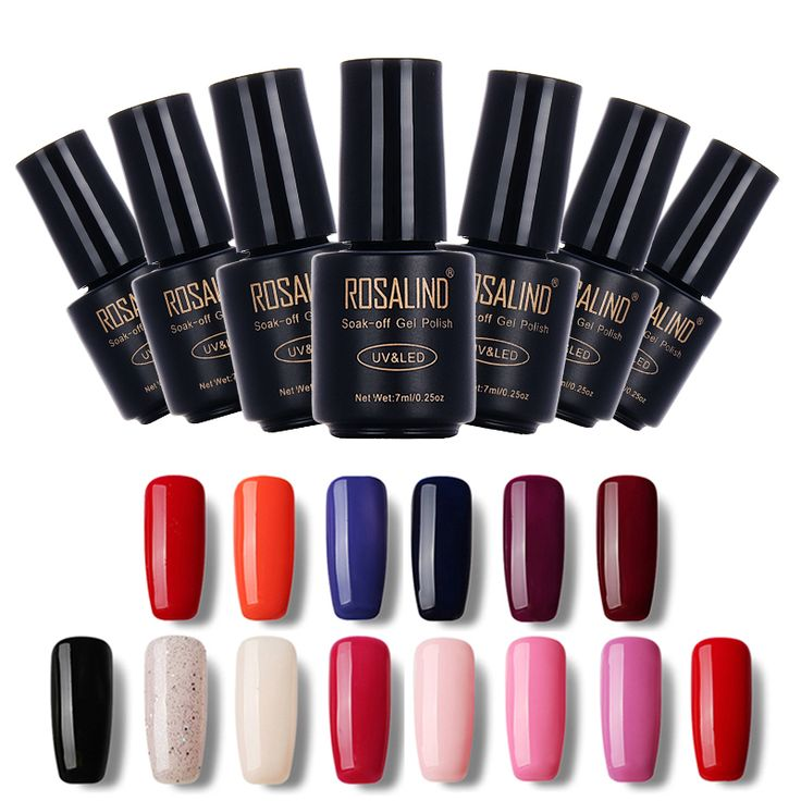 Rosalind zwarte fles 7 ml naakt kleur 1323-1465 gel nagellak nail Art Nail Gel Polish UV LED Nail Gel Macaron Semi Permanente
