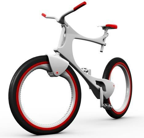 Futuristic carbon and Kevlar bike in black and white for mobile lifestyle | mobility & sport . Mobilität & Sport . mobilité & sport | Design: Marina Gatelli @  tuvie.com |