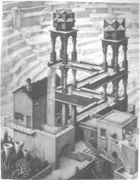 """M. C. Escher """"Waterfall"""" (Click for view larger image)"""
