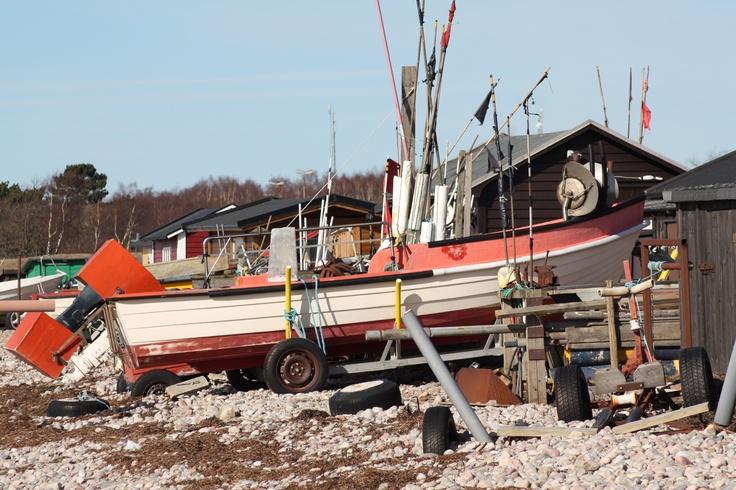 Båt i Råå hamn