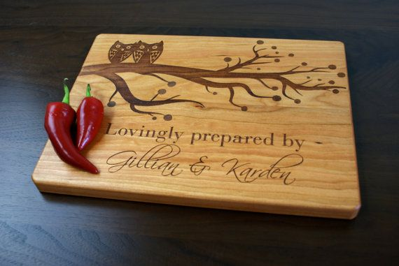 Engraving Wedding Gifts: Engraved Cutting Board, Cutting Board, Personalized