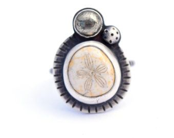 Statement Ring Fossil Ring Ocean Jewelry Sea Urchin by ErinAustin