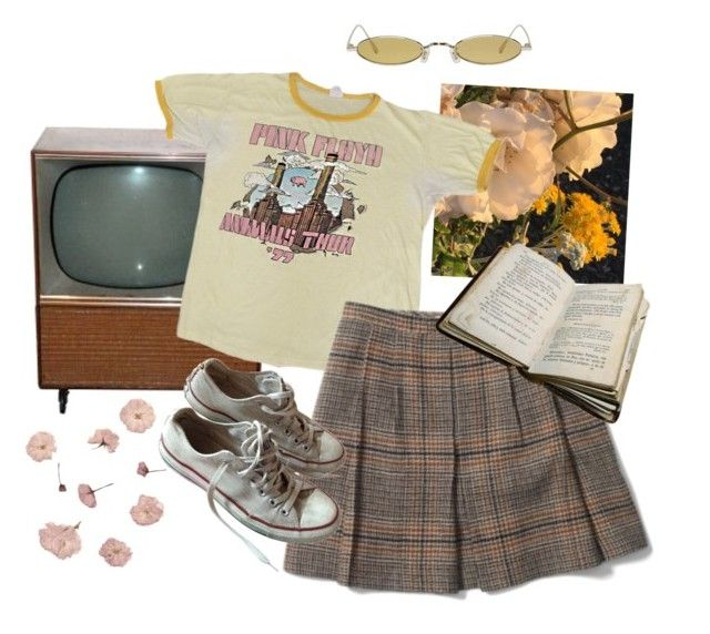 """just leave me alone"" by silkwitch on Polyvore featuring Club Monaco, Converse and Gentle Monster"