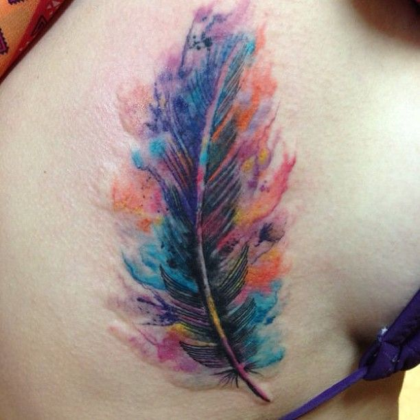 Tatuajes de plumas: un diseño con muchos significados | Distopia Mod