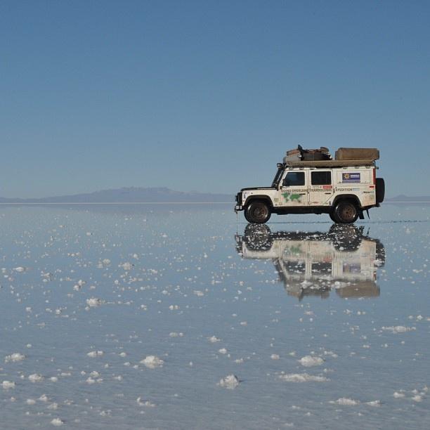 Defender, looks like Bolivian salt lake?