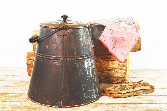 Metal Coffee Pot Cowboy Coffee Pot Rustic Kettle Outdoor