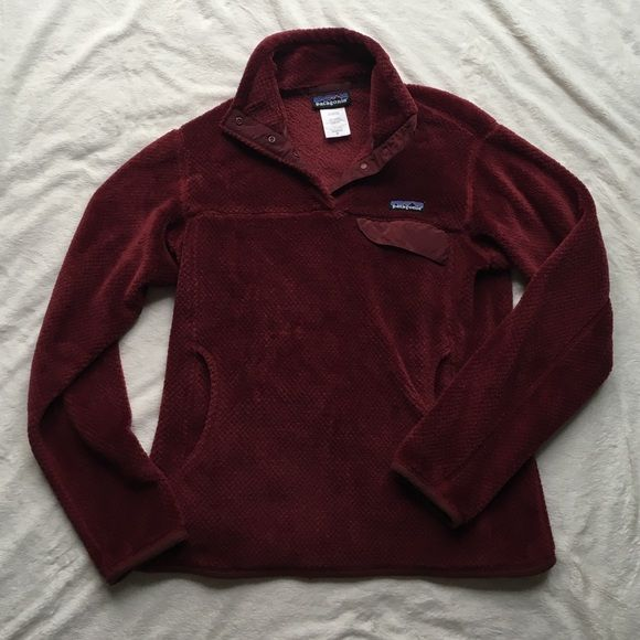 Patagonia retool pullover Burgundy/maroon color. Women's medium. Great condition. No trades. Patagonia Sweaters