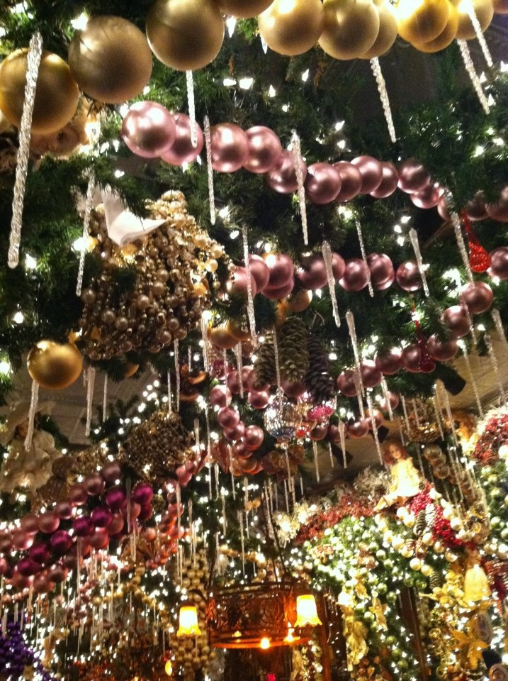 rolf's restaurant in nyc.   Good German food.   Awesome Christmas decorations!!   Fun place to eat this time of year.
