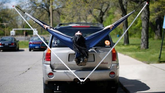 Hammock King 250lb Collapsible Trailer Hitch Hammock Stand