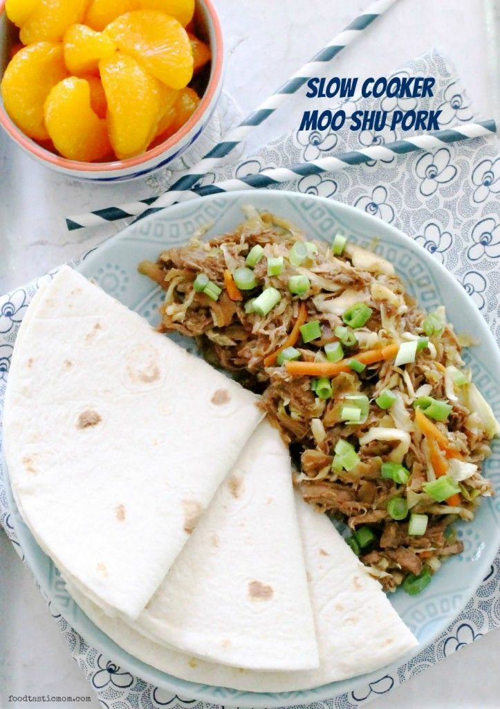 Slow Cooker Moo Shu Pork by Foodtastic Mom