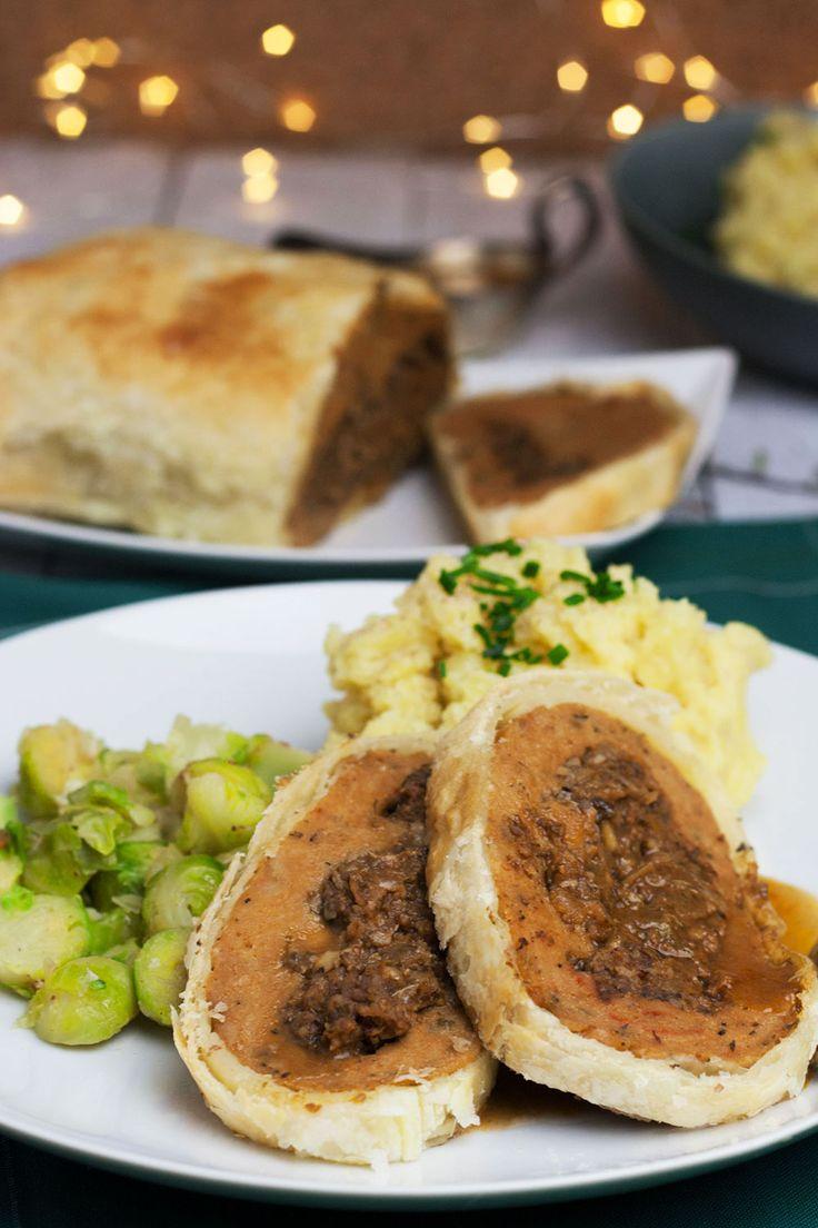 Seitanbraten Mit Maronen Pilzfullung Rezepte Lebensmittel Essen Und Vegane Gerichte
