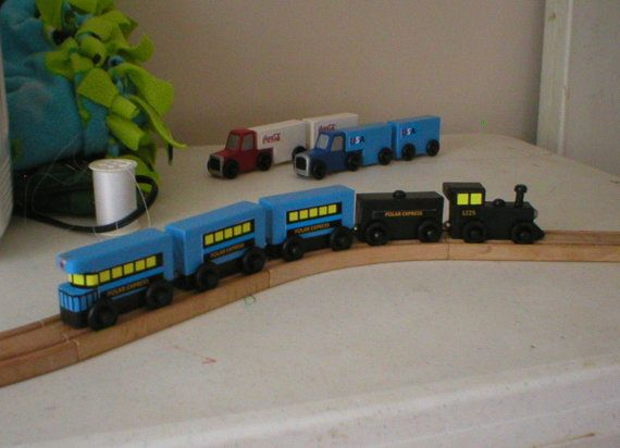 Polar Express Train for use with wooden toy train by JDWhimsy, $34.50