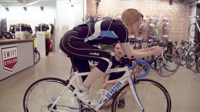 Bikefitting with help of the retul system