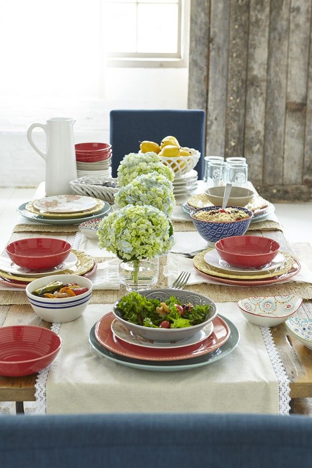 Styling a casual dining tablescape with homegoods for Casual dining table centerpiece ideas