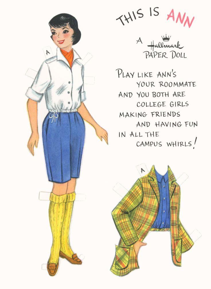 Ann Hallmark Paper Doll Paper Dolls Pinterest