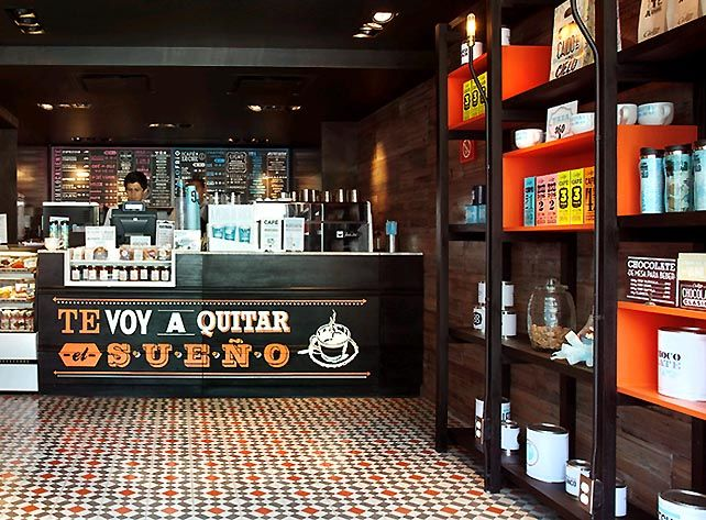modern coffee shop shelves design interiormagz.com