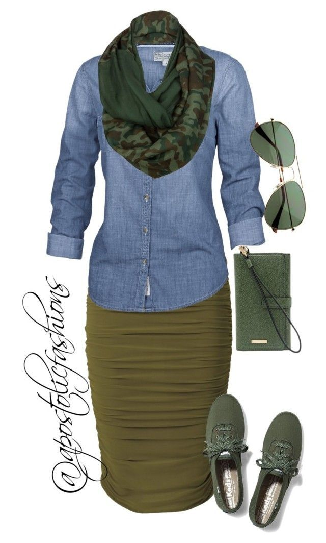 """Apostolic Fashions #1054"" by apostolicfashions ❤ liked on Polyvore featuring Fat Face, Keds, Lodis and Celtek"