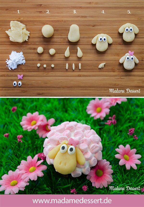 Easter sheep Agathe – cupcakes in marshmallow fur. The perfect recipe for Oste …   – caros bakery