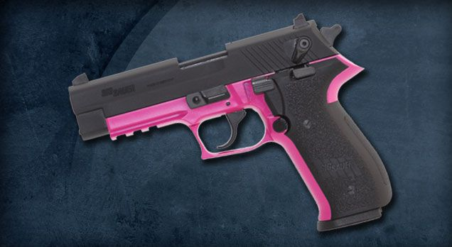 Pink Lady Smith 38 | ... popular pinks with the ladies, Sig's pink trimmed Mosquito in .22LR