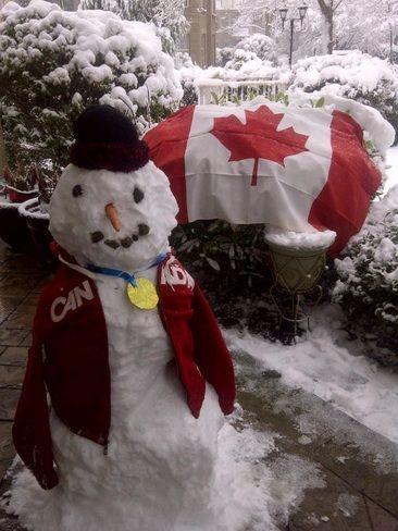White Rock, British Columbia CanadaDate shot: February 23, 2014  Gold Canada Gold!