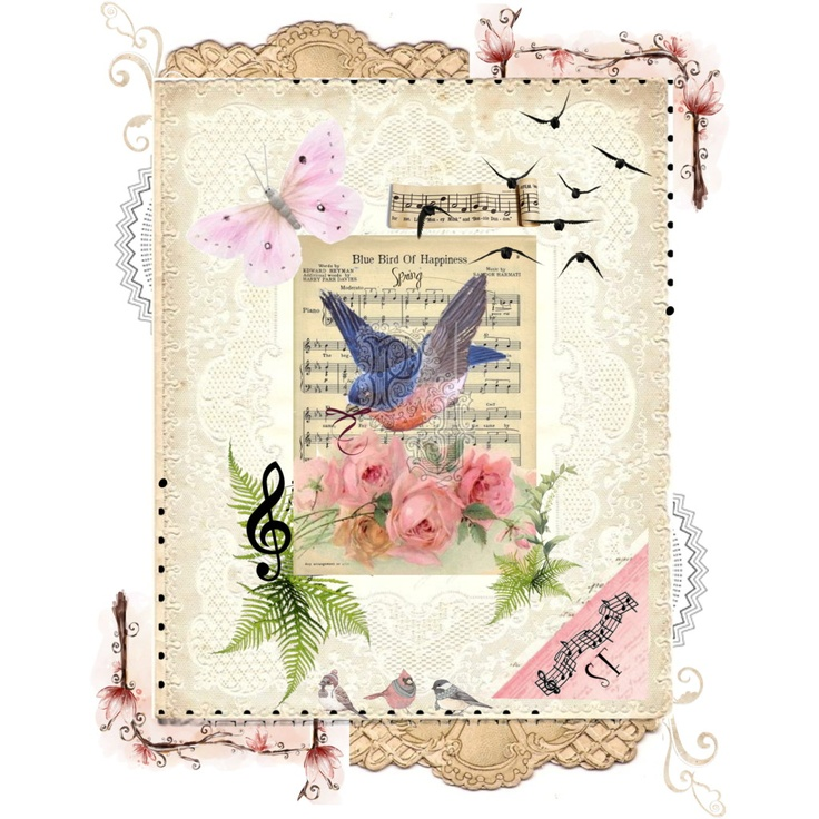 Spring - Blue Bird of Happiness by acreativelife, via Polyvore
