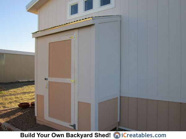 3x6 Lean To Shed Plans Completed Front Elevation Lean To Shed