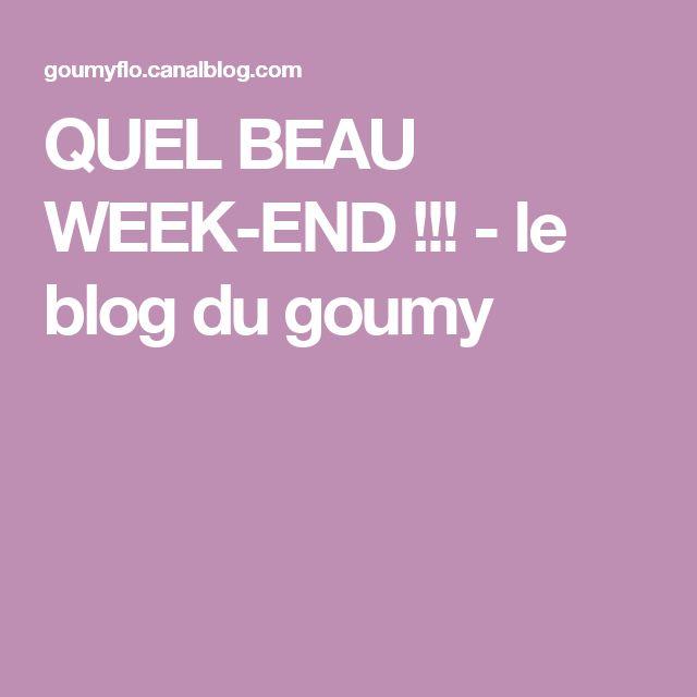 QUEL BEAU WEEK-END !!! - le blog du goumy