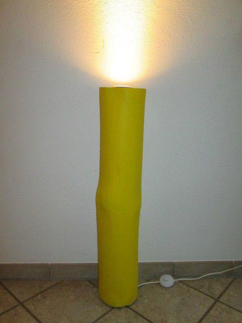 Nr.29, Baumstamm gelb, 18cm x 18cm x 91cm, Deckenfluter, Holzsäule, Stehlampe in Möbel & Wohnen, Beleuchtung, Lampen | eBay