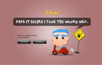Baby Cartoon 404 Error Page by @rometheme www.rometheme.com