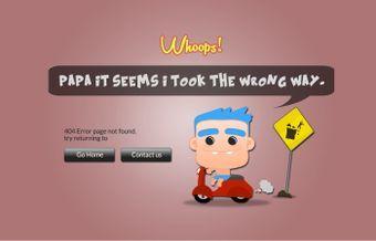 Baby Cartoon 404 Error Page by @rometheme www.rometheme.com
