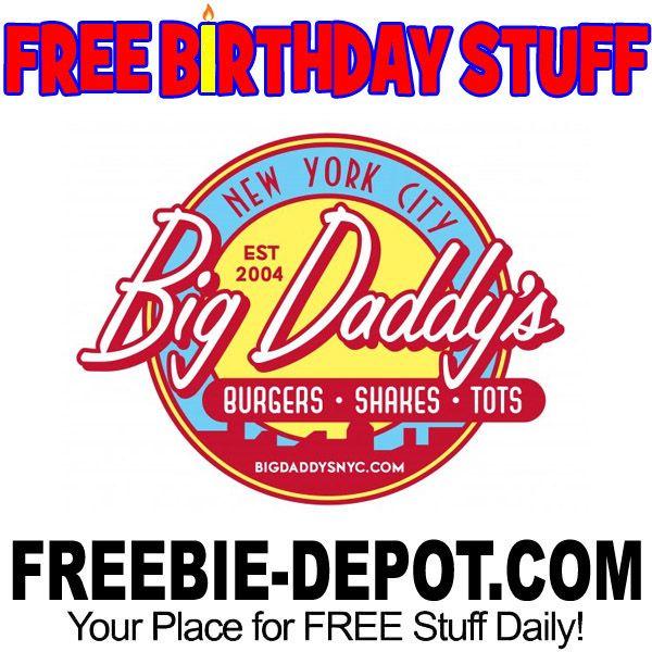 ►► FREE BIRTHDAY STUFF - Big Daddy's American Retro Restaurant ►► #BDay, #Birthday, #BirthdayFreebie, #BirthdayGift, #FreeBirthdayStuff, #FrugalFind, #FrugalLiving, #HappyBirthday, #NewYorkCity, #NYC ►► Freebie Depot