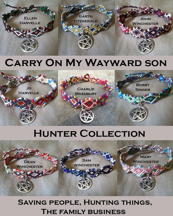 The Carry On My Wayward Son Hunter collection celebrates the hunters of Supernatural, who are like our guardians, staying to the shadows and trying