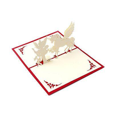3D Pop Up открытки ручной работы с днем рождения веселая рождественская открытка