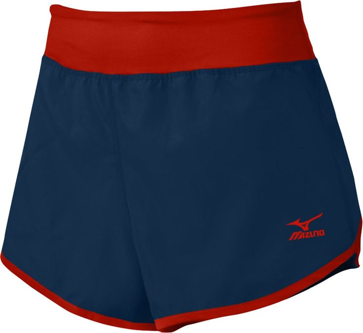 Mizuno Women's Elite 9 Dynamic Cover Up Volleyball Shorts, Size: Medium, Blue/Red