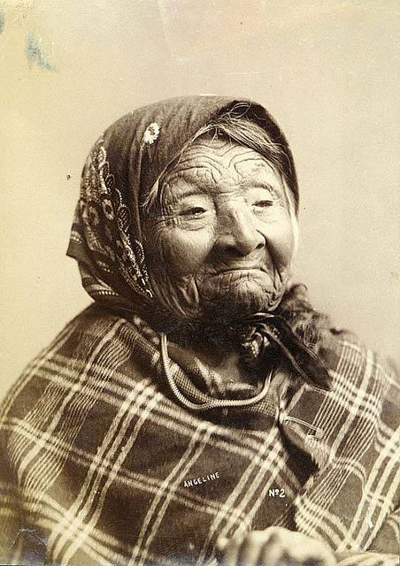Princess Angeline, daughter of Chief Seattle.  Born 1820 in what is now Rainier Beach.  After the 1855 treaty that kicked all Native Americans out of Seattle, Angeline remained in a small waterfront cabin on Western Avenue, near what is now the Pike Place Market, selling handwoven baskets at Ye Olde Curiosity Shop.