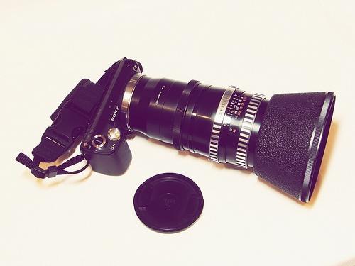 Tags: Chernivtsi, Ukraine, 2012, camera, lens, style, tool, vintage, photographer, Sony DSC-H5, Biometar 120mm F2.8 Carl Zeiss Jena, Zenitar-M 50mm F1.7, photography, bayonet, Penatcon Six (P6), adapter, Sony NEX E-mount