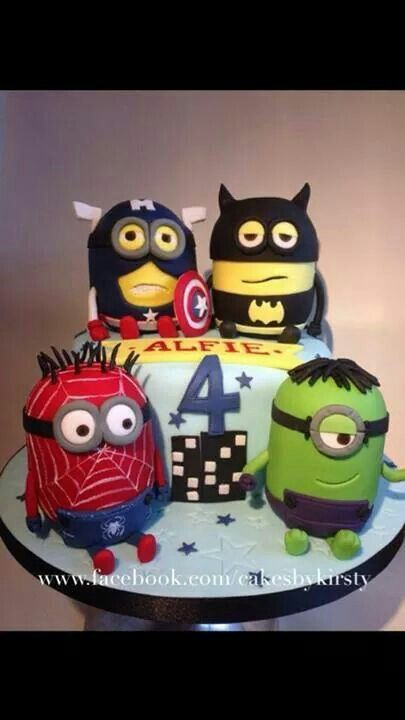 Minion superhero cake - For all your cake decorating supplies, please visit craftcompany.co.uk