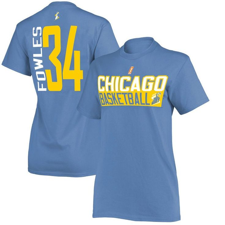 Sylvia Fowles Chicago Sky Women's Name & Number T-Shirt – Light Blue