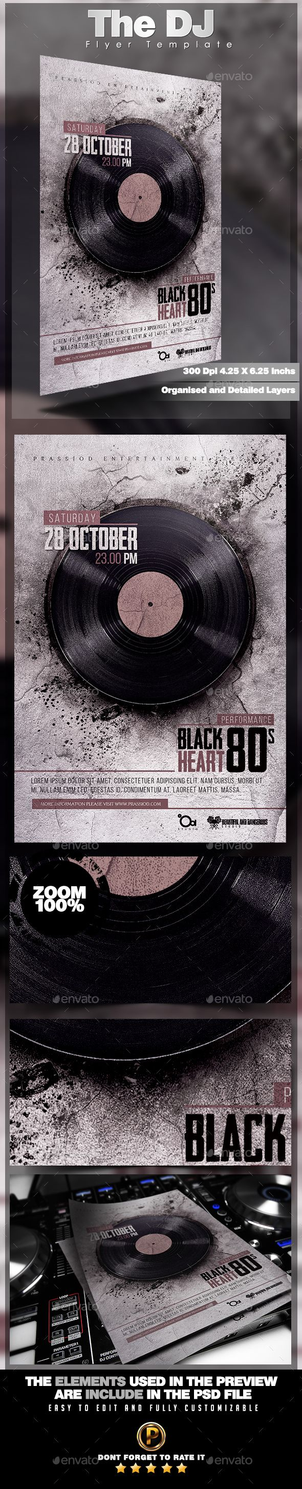 The DJ Flyer Template PSD #design Download: http://graphicriver.net/item/the-dj-flyer-template/13374443?ref=ksioks