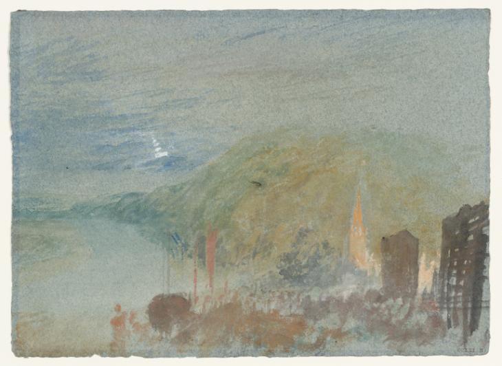 Caudebec En Caux Loose Studies Of Paris And The Seine C 1832 34