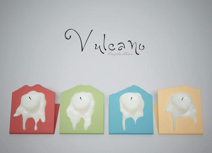 Vulcano è un porta candele in acciaio verniciato di spessore 2mm. Rappresenta il mito, la violenza e la storia dei vulcani d'Italia e ci ricorda che il nostro è un paese fragile, ma unico al mondo.