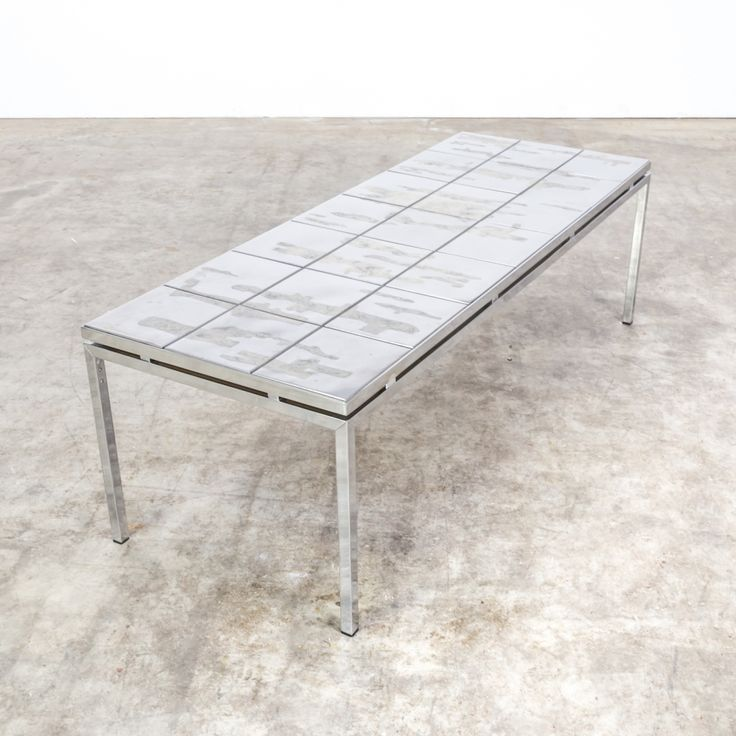 80s Brutalist Artwork Metal Coffee Table Metal Coffee