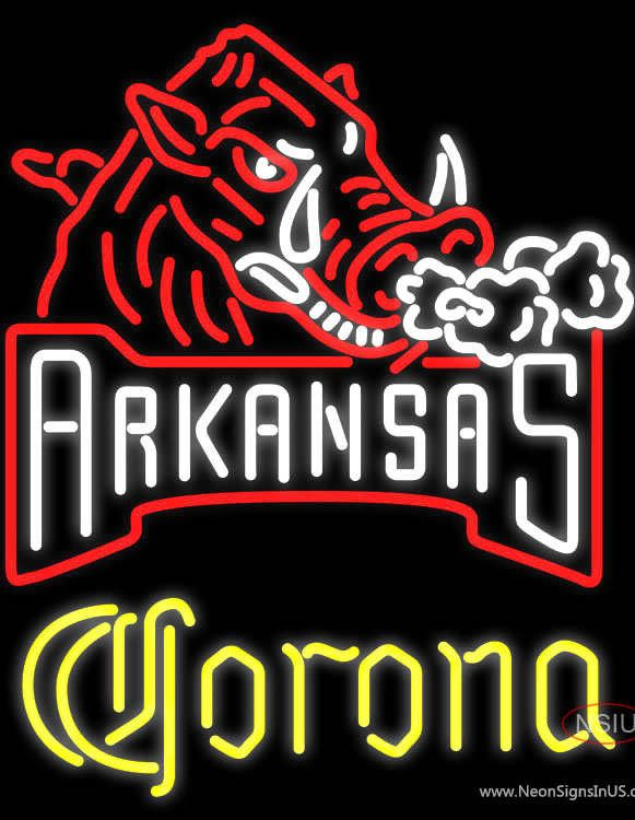 Corona Arkansas Razorbacks Real Neon Glass Tube Neon Sign,Affordable and durable,Made in USA,if you want to get it ,please click the visit button or go to my website,you can get everything neon from us. based in CA USA, free shipping and 1 year warranty , 24/7 service